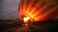Stock Video Footage of Balloon Inflates at Dawn in Masai Mara, Kenya   (HD)