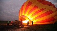 Stock Video Footage of Balloon Inflates as Burners are Engaged