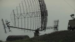 Aerial, Military radar air defense system to sweep the local airspace Stock Footage