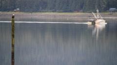 Eagle , fishing trawler Stock Footage