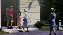 Going to Church Sunday Service Part 3 1959 Vintage Film Home Movie 422 Stock Footage