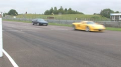 Supercars on race track Stock Footage