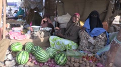 Somalia: Women at the Market place Stock Footage