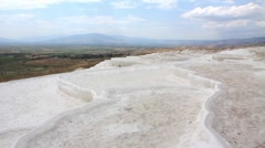 "Pamukkale - ""cotton castle"", Denizli Province in southwestern Turkey - stock footage"