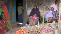 Somalia: Woman in Marketplace Stock Footage