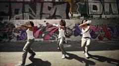 Women team dancing - stock footage