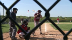 Baseball player takes a ball Stock Footage