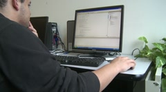 Student using computer for research (1 of 2) Stock Footage
