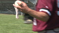Baseball players practice (4 of 5) Stock Footage