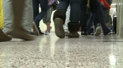 Students walking in hallway (3 of 4) - stock footage