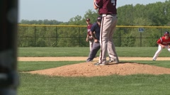 Pitcher in action Stock Footage