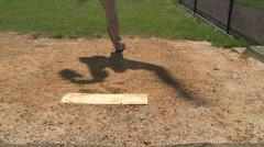 Pitcher warms up (2 of 4) Stock Footage