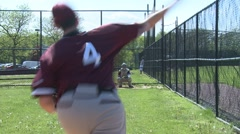 Pitcher warms up (1 of 4) Stock Footage