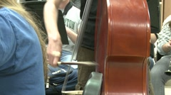 Strumming the cello Stock Footage