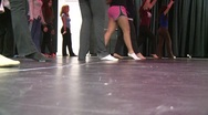 Stock Video Footage of Set position and dance (1 of 2)