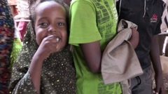 Somalia: Somali Girl waves for Camera Stock Footage