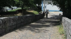 Romanesque bridge near Marvao Stock Footage
