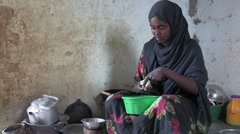 Somalia: Food Prep Stock Footage