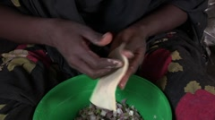 Somalia: CU of Food Prep Stock Footage