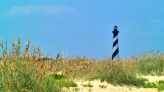 Cape Hatteras lighthouse 11 Stock Footage
