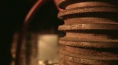 Close oil valve Stock Footage