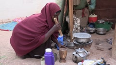 Somalia: Cooking the Meal - stock footage