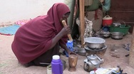 Stock Video Footage of Somalia: Cooking the Meal