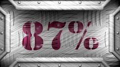 87 percent on steel stamp Stock Footage