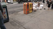 Stock Video Footage of NYC Garbage Pile