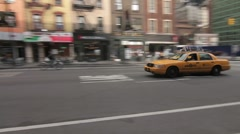 Stock Video Footage of NYC Yellow Taxi Cab