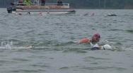 Swimmers Racing In Triathlon 03 Stock Footage