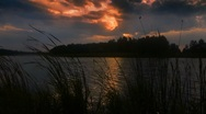 Stock Video Footage of Evening on lake 2