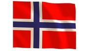 Norway flag_019 Stock Footage