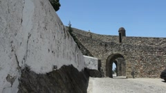 Marvao walls and entry Stock Footage