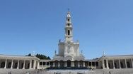 Fatima church and blue sky Stock Footage