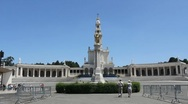 Fatima church with statue of Christ Stock Footage