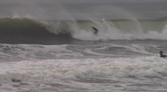 Stock Video Footage of Sequence of waves and surfers