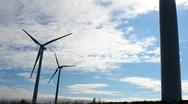 Turbine Sky Power Stock Footage