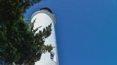 Ocracoke island lighthouse 04 Stock Footage