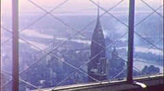 Chrysler Building from Empire State NYC 1950s Vintage Film Home Movie 436 Stock Footage