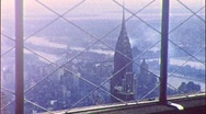 Stock Video Footage of Chrysler Building from Empire State 1950s Vintage Film Home Movie 436