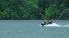 Young Couple On Jet Ski 02 Stock Footage