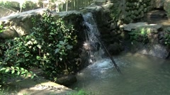 Falls on brook... - stock footage