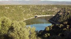 Lake Cedrino in Sardinia, Italy Stock Footage