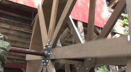 Stock Video Footage of Water Wheel Close Up