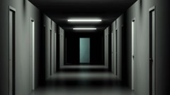 Dolly Zoom into a dark Hallway Stock Footage