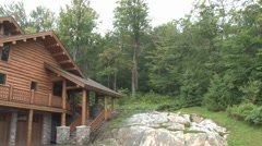 Log Cabin Pan - stock footage