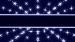 Stars title bar Stock Footage