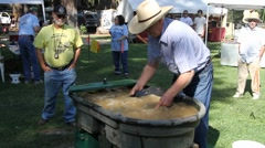 Gold panning contest Stock Footage