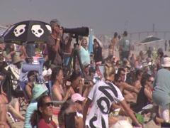 Crowd Shots @ Belmar Pro 2010 Stock Footage